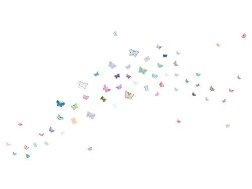 Wandsticker Schmetterlinge 58 süße Wandaufkleber