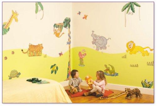 FunToSee Zimmerdekorations-Set Dschungel-Safari