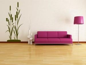 XL Wandtattoo Bambus, Schilf Strauch original Stickerkoenig (#WT-Schilf Größe:100cm hoch x 44cm breit ) Farbe frei wählbar