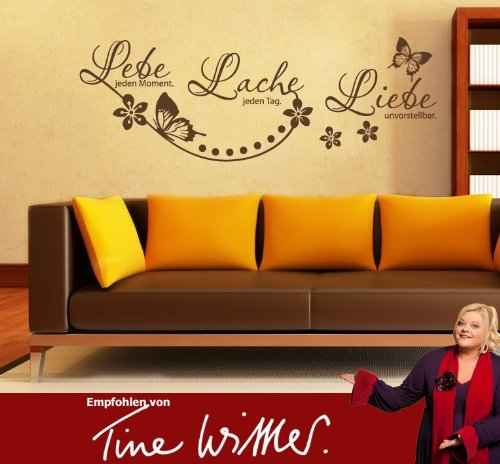 wandtattoo leben lachen lieben. Black Bedroom Furniture Sets. Home Design Ideas