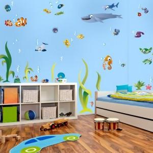 wandtattoo unterwasserwelt xxl ber 50 teile 200 x 130 cm. Black Bedroom Furniture Sets. Home Design Ideas