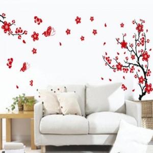 wandsticker blumen schmetterlinge. Black Bedroom Furniture Sets. Home Design Ideas