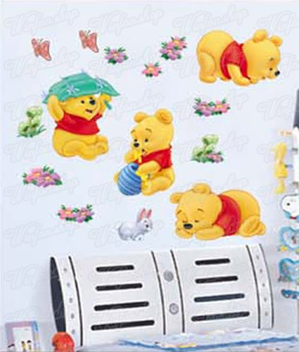 wandsticker winnie pooh. Black Bedroom Furniture Sets. Home Design Ideas