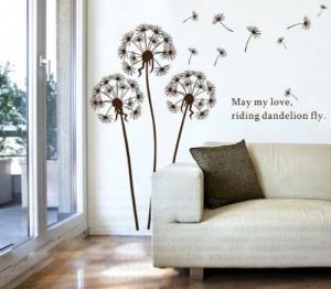 wandtattoo l wenzahn im wind pusteblume. Black Bedroom Furniture Sets. Home Design Ideas