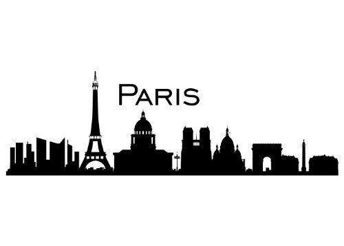 Wandtattooladen Wandtattoo - Skyline Paris Größe:120x38cm Farbe: schwarz