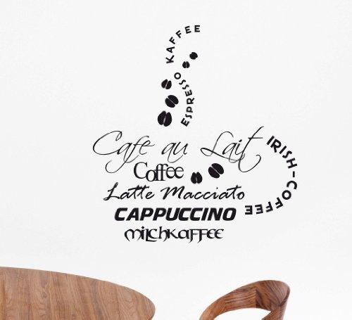 """Wandtattoo """"Kaffee 2"""" W125 (27x29 cm) schwarz"""
