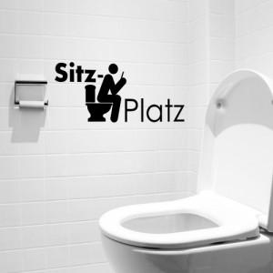 """Wandtattoo Wandaufkleber Sticker """"SITZPLATZ"""" schwarz"""