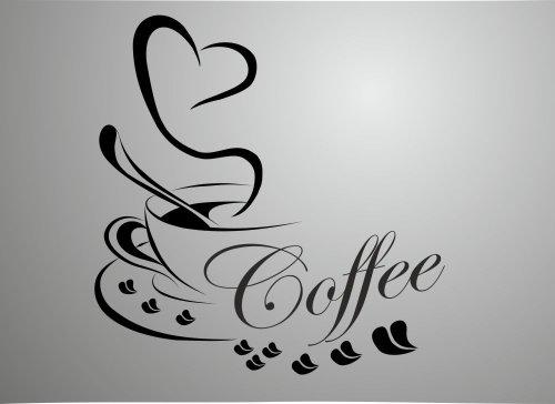 Wandtatoos für die küche  Wandtattoo Küche Kaffee - Onlineshop mit günstigen Preisen ✓