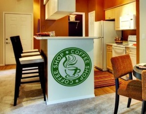 wandtattoo coffeeshop onlineshop mit g nstigen preisen. Black Bedroom Furniture Sets. Home Design Ideas