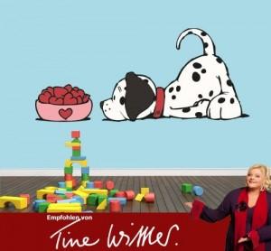 Klebefieber DS 1440-N Wandtattoo Love dog B x H: 50cm x 22cm (erhältlich in vielen Größen)