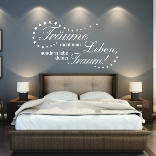 wandtattoo spruch tr ume leben onlineshop mit g nstigen preisen. Black Bedroom Furniture Sets. Home Design Ideas