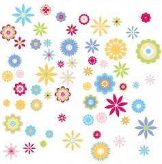 RoomMates Wiederverwendbare Wandsticker, graphische Blumen
