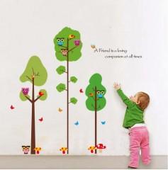 ATC Kinderzimmer Wandtattoo Schössling und Eule Wandsticker PVC 60*90cm Walltattoo Wandtatto Dekoration