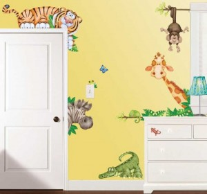 Wandtattoo kinderzimmer dschungel - Jungle wandtattoo ...