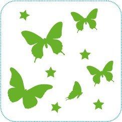 """Wallsticker """"Schmetterlinge"""" ::: Farbe: lindgrün (Wandtattoo)"""