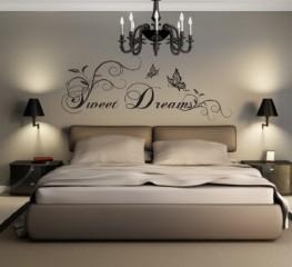 greenluup ökologisches, hochwertiges Wandtattoo in Schwarz Spruch Sweet Dreams Schlafzimmer Kinderzimmer