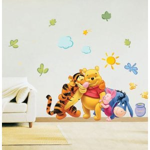 disney winnie the pooh wandsticker wandtattoo tigger piglet eeyore gr ca 60x33 cm. Black Bedroom Furniture Sets. Home Design Ideas