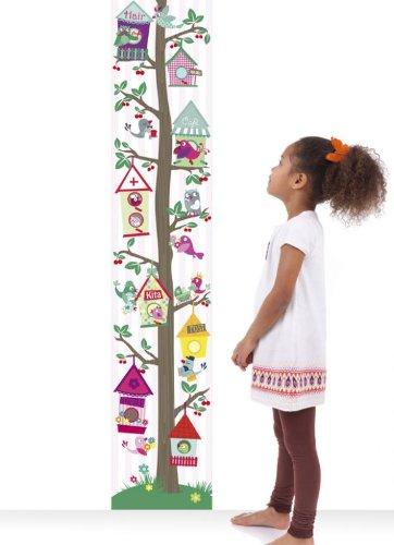 anna wand® Bordüre BIRD'S CITY GIRLS, 450 cm x 11,5 cm, Querformat, selbstklebend, für Wände und Möbel