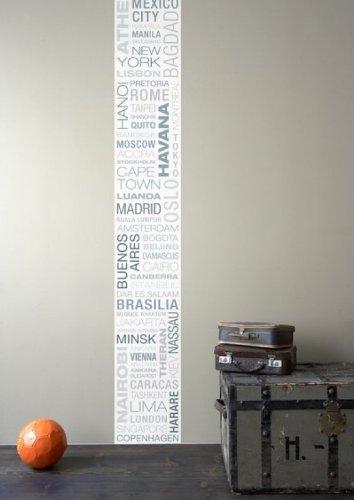 anna wand® Bordüre WALLPANEL BIG CITIES, 35 cm x 250 cm, Hochformat, selbstklebend, für Wände und Möbel
