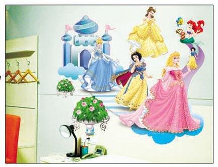 Disney Prinzessin Dekor fürs Kinderzimmer Wandtattoo/Wandsticker 70cm x 50cm aus Deutschland