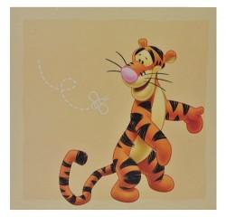 1 Stk. Wandtattoo / Fensterbild / Sticker groß - Winnie the Puuh Tigger Esel I-Aah - Wandsticker selbstklebend Pooh 4 eckig