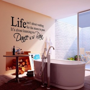wandtattoo wandaufkleber schwarz life spruch 45x45cm pvc kinderzimmer deko. Black Bedroom Furniture Sets. Home Design Ideas