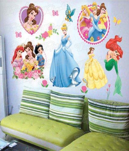 Wandaufkleber Wandtattoo Wandsticker Disney Prinzessin Kinderzimmer WAK-026