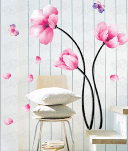 Wandaufkleber Wandtattoo Wandsticker Blumen U0026 Schmetterling WAK 034