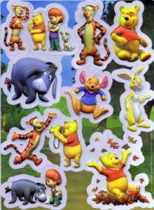 Disney - Winnie Pooh 3D Sticker Set ( 9 Stück) / Wandtattoos / Sticker
