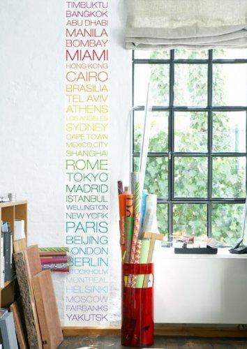 anna wand® Bordüre WALLPANEL HOT CITIES, COOL PLACES, 35 cm x 250 cm, Querformat, selbstklebend, für Wände und Möbel