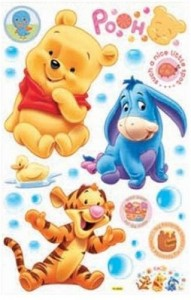 HL6850 Winnie the Pooh & FRIENDS Dekor fürs Kinderzimmer Wandtattoo 90 x 60cm