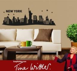 Klebefieber 4553 Wandtattoo New York City Skyline B x H: 60cm x 20cm Farbe: schwarz (erhältlich in 35 Farben und vielen Größen)