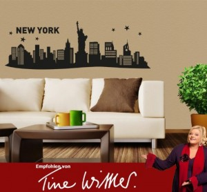 wandtattoo new york city skyline wandsticker. Black Bedroom Furniture Sets. Home Design Ideas