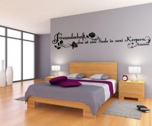Wandtattoo Spruch Freundschaft Wandsticker Zitate Weisheit Aristoteles 5D439, Farbe:Dunkelgrau Matt;Breite vom Motiv:140cm