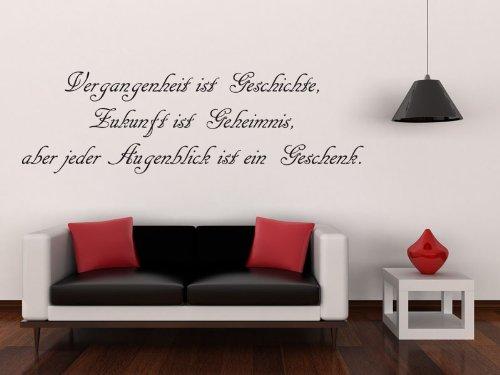 """Wandtattoo """" Vergangenheit ist Geschichte"""" (140 x 42cm) !! FREIE FARBWAHL !!"""