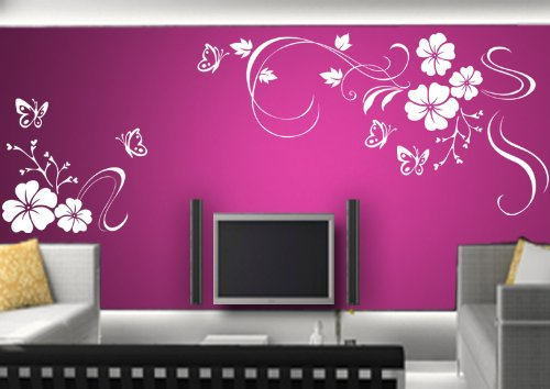 wandsticker blumen onlineshop mit g nstigen preisen. Black Bedroom Furniture Sets. Home Design Ideas