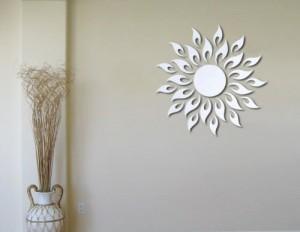 Spiegel Wandsticker * schnell - einfach - exklusiv * Wand Sticker Aufkleber Kunst Art Bild Wandtattoo * Sonne *