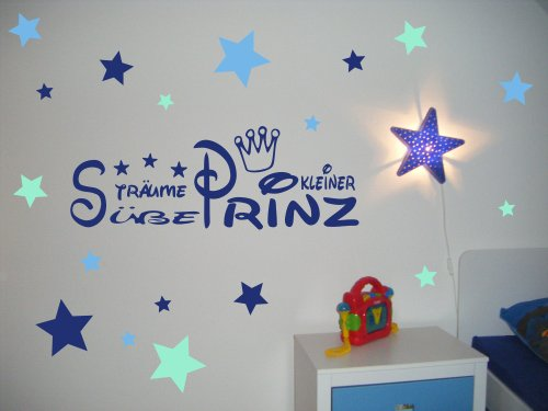 Wandtattoo kinderzimmer kind baby text s e tr ume for Babyzimmer sterne