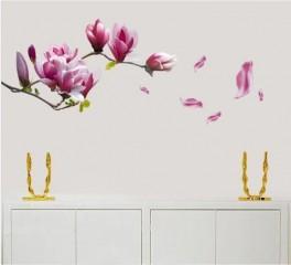 Große Magnolie Blumen Wand Sticker Aufkleber Wandtattoo Dekoration