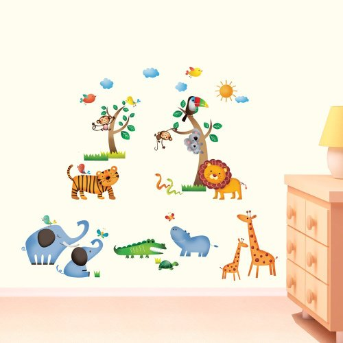 DW-1206 Dschungel Baby Zimmer Wandtattoo/Wandstickers