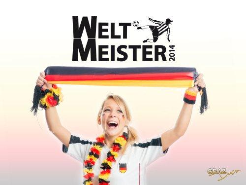 Wandtattoo für Weltmeisterschaft Wandsticker Spruch Weltmeister 2014 Fußball (Größe=114x50cm//Farbe=042 flieder)