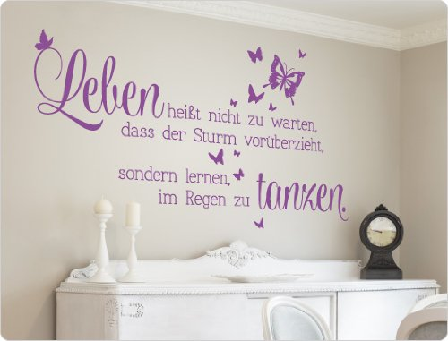 i love wandtattoo 11551 wandtattoo spruch leben hei t. Black Bedroom Furniture Sets. Home Design Ideas