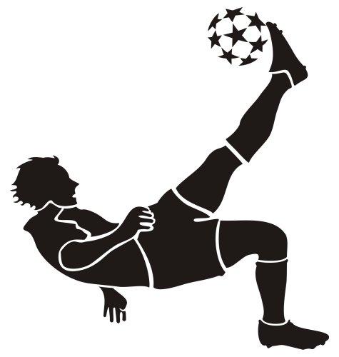 """Wandtattoo """"Fußballer 6"""", 24 x 26 von mldigitaldesign"""