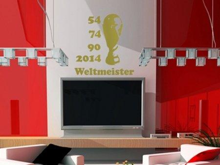 Wandtattoo, Wandaufkleber AMZS0039 Weltmeister III Achtung verschiedene Größen u. Farben