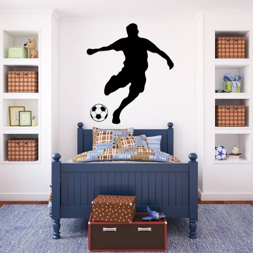 Wandtattoo: Fußballer / 49 Farben / 4 Größen / schwarz / 115 x 133 cm