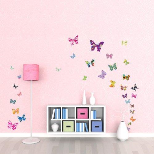 DW-1201 38 Bunte Schmetterlinge Wandstickers