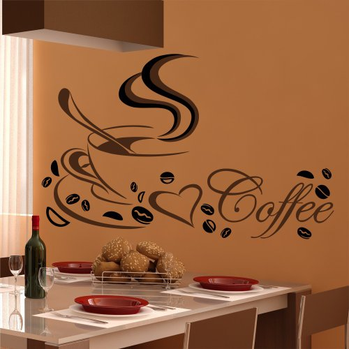 wandtattoo k che kaffee tasse coffee cafe spruch. Black Bedroom Furniture Sets. Home Design Ideas
