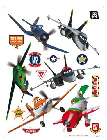 Planes - Dusty, Risplinger, El Chupacabra, Skipper, Echo Und Bravo Wand-Tattoos Aufkleber Poster-Sticker (85 x 65cm)