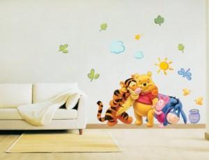 Winnie the Pooh & Friends - Kinder Wandaufkleber Home Kunst Deko Wandtattoo