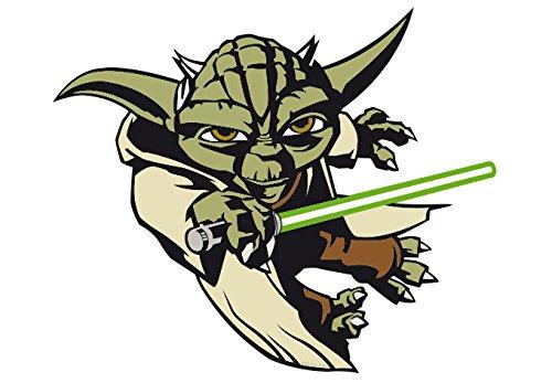 Wandsticker - Clone Wars Yoda - Bogengröße: 33x23 cm